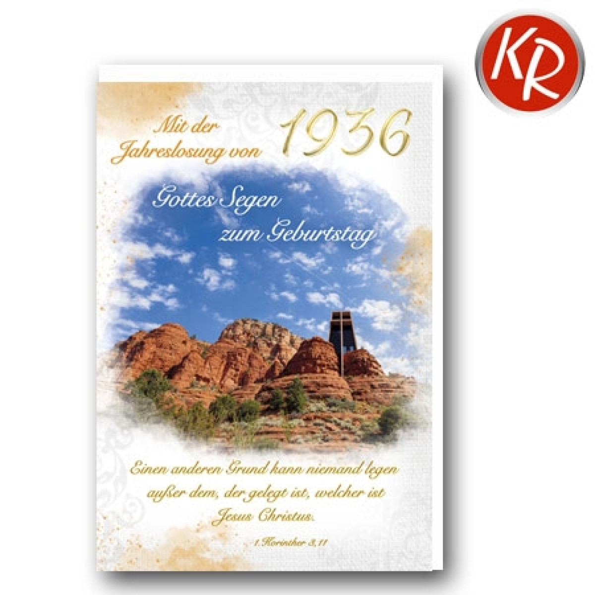 Faltkarte mit Jahreslosung von 1936 45-1936