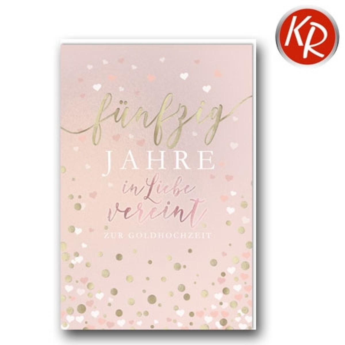 Faltkarte Goldene Hochzeit 53-0116