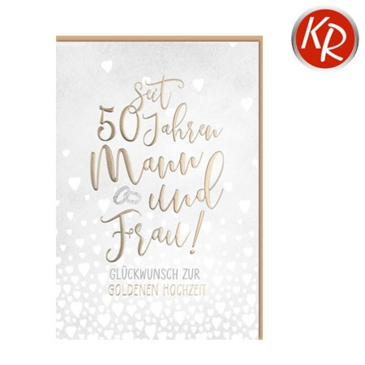 Faltkarte Goldene Hochzeit 53-0118