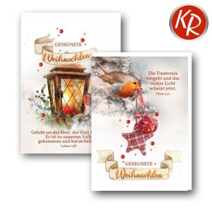 10er Serie Weihnachtskarten 15-0020