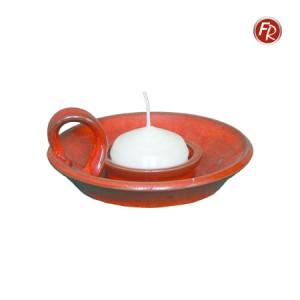 Henkelleuchter rot, Keramik 3065
