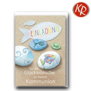 5er-Pack Einladung Kommunion 22-0155