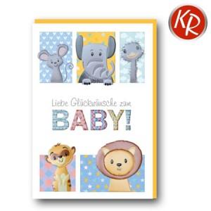 Faltkarte Geburt 30-0170