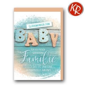 Faltkarte Geburt  30-0174