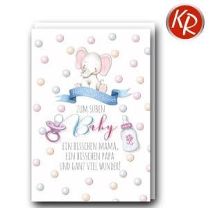 Faltkarte Geburt 30-0176