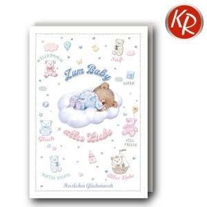 Faltkarte Geburt  30-0185