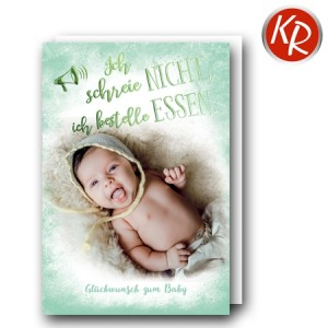 Faltkarte Geburt  30-0187
