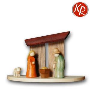Miniaturkrippe mit Stall, 3220