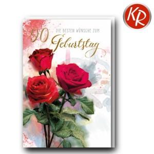 Faltkarte zum 90. Geburtstag  45-0690