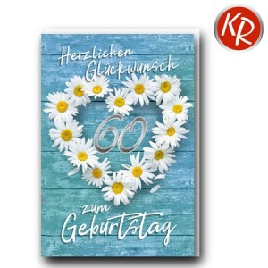 Faltkarte zum 60. Geburtstag  45-0760