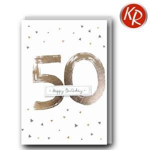 Faltkarte zum 50. Geburtstag  45-0950