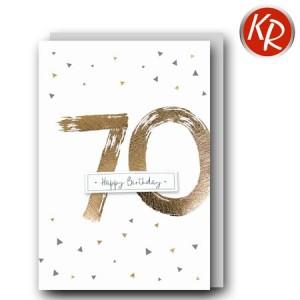 Faltkarte zum 70. Geburtstag  45-0970