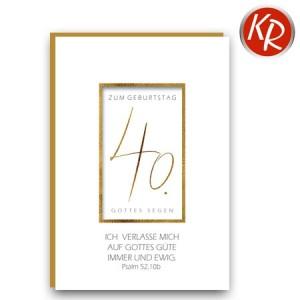 Faltkarte zum 40. Geburtstag  45-1040