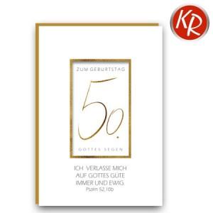 Faltkarte zum 50. Geburtstag  45-1050