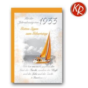 Faltkarte mit Jahreslosung von 1933 45-1933