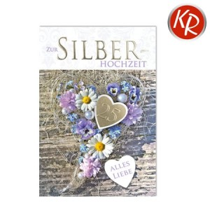 Faltkarte Silberhochzeit  52-0079