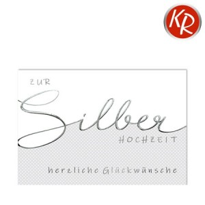 Faltkarte Silberhochzeit  52-0081