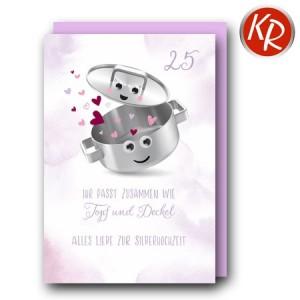 Faltkarte Silberhochzeit 52-0088