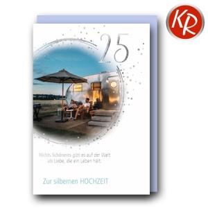 Faltkarte Silberhochzeit  52-0089