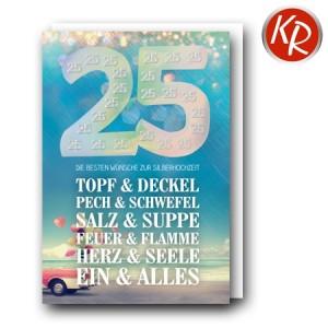Faltkarte Silberhochzeit  52-0092