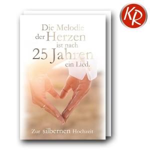 Faltkarte Silberhochzeit  52-0093