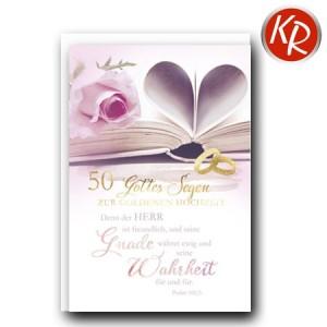 Faltkarte Goldene Hochzeit 53-0108