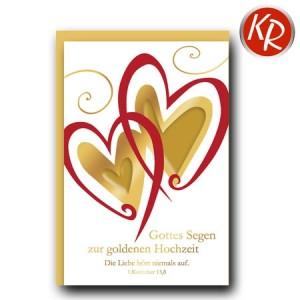 Faltkarte Goldene Hochzeit 53-0109