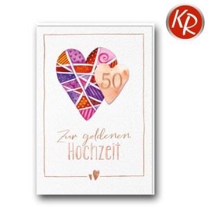 Faltkarte Goldene Hochzeit 53-0117