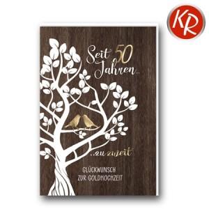 Faltkarte Goldene Hochzeit 53-0120