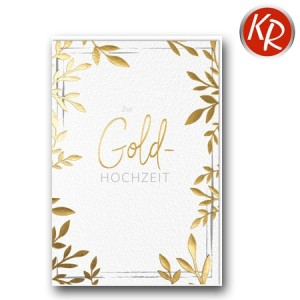 Faltkarte Goldene Hochzeit 53-0122