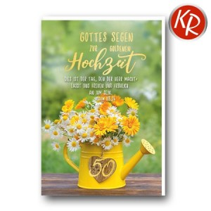 Faltkarte Goldene Hochzeit 53-0129
