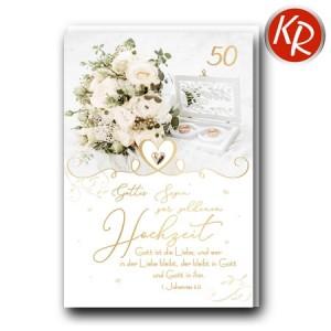 Faltkarte Goldene Hochzeit 53-0130