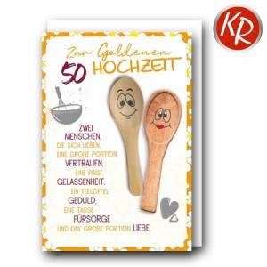 Faltkarte Goldene Hochzeit 53-0131
