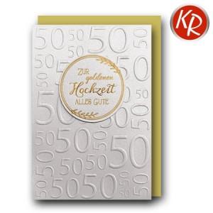 Faltkarte Goldene Hochzeit 53-0132