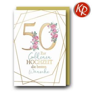 Faltkarte Goldene Hochzeit 53-0133