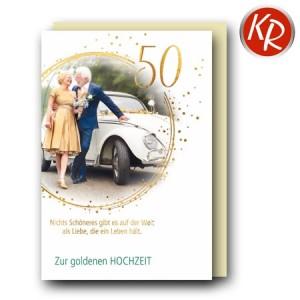 Faltkarte Goldene Hochzeit 53-0134