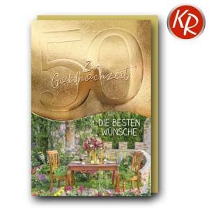 Faltkarte Goldene Hochzeit 53-0135