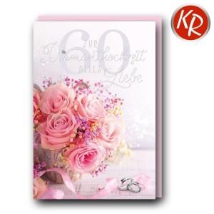 Faltkarte Diamanthochzeit 54-0063