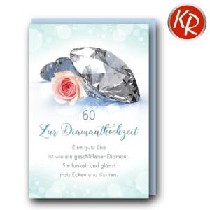 Faltkarte Diamanthochzeit 54-0066