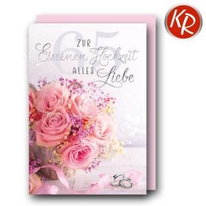 Faltkarte Eiserne Hochzeit 55-0017