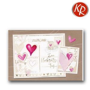 Faltkarte  Hochzeitstag 56-0049