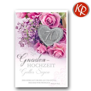 Faltkarte zum 70. Hochzeitstag Gnadenhochzeit 56-0051