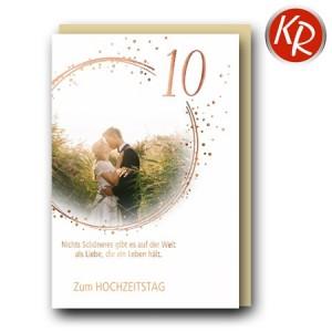 Faltkarte 10. Hochzeitstag Rosenhochzeit  56-0053