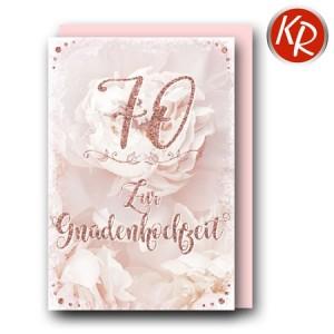 Faltkarte zum 70. Hochzeitstag Gnadenhochzeit 56-0054