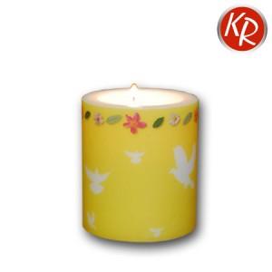 Kerze Taube gelb  72-0054