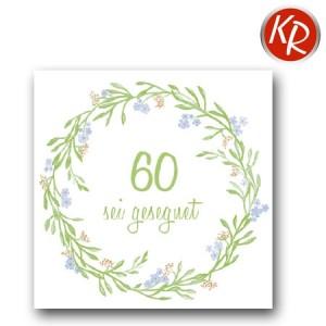 "20er Pack Serviette ""sei gesegnet 60""  73-0093"