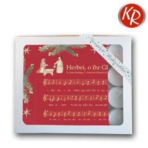"""Geschenkbox Servietten """"Herbei, o ihr gläubigen""""  75-0002"""
