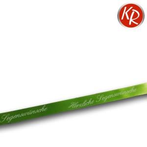 Geschenkband Segenswünsche grün  76-0005