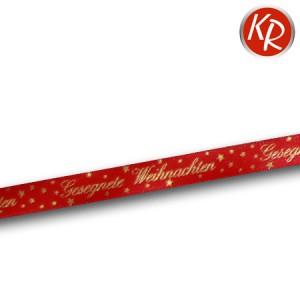Geschenkband Gesegnete Weihnachten rot 76-0009