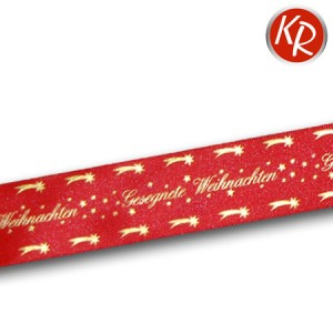 Geschenkband Gesegnete Weihnachten rot 76-0011